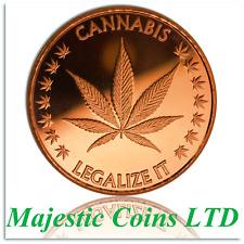 2017 Legalize-It Cannabis 1 oz .999 Copper Round GreenbudLife