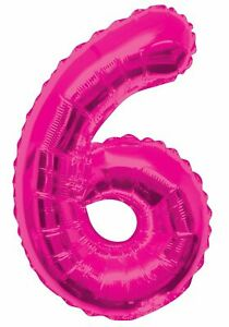 Jumbo 6 Foil Balloon Helium 34'' Pink