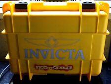 Invicta 8 Slot Yellow Gray Watch Dive Display Case Travel Presentation Box