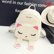 Fashion Cat Printing Travel Backpack Rucksack Shoulder School Bag Women Girl