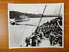 OFFICIAL US Navy 1920 's Panama Canal Army Transport Scene Marine  Photo 8x10