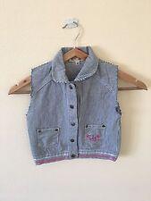 Chemise en jean sans manches fille 3 ans