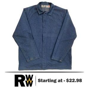 Steel Grip Flame Resistant Clothes FR Welding Coat Denim Industrial Work Uniform