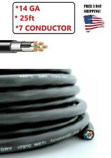 14 Gauge 25 Feet 7 Wire Conductor For Trailer Wire Rv Cable Wiring Insulated
