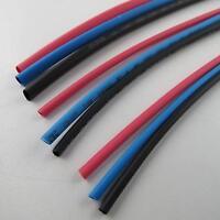 Schrumpfschlauch Sortiment 9 Stk. je 3x 1,6 2,4 3,2mm 1x rot blau schwarz 2:1