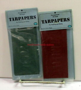 """Scale Model Weathering Company~HO~Tarpapers~Green & Red~Roofing/Siding~2""""X4""""~6ea"""