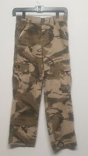 Boy's Wrangler Cargo Pants Size 12 Camouflage Adjust Elastic Waist 👍FREE 📦 👍!
