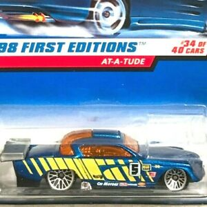 Hot Wheels At-A-Tude Metallic Blue 1998 First Editions 34/40 Mint on Card