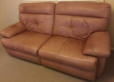 moving sale - genuine leather sofa in excellent condition, adjustable leg rest.