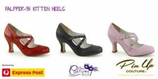 Leather Special Occasion Medium (B, M) Low Heel (3/4 in. to 1 1/2 in.) Heels for Women
