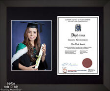 Large Black Wooden Frame A4 10x8 Photo 8x10 Picture Certificate Graduation Diplo