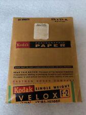 Sealed Antique Kodak F-2 Velox 2-1/2 x 3-1/2� 24 Sheets Photographic Paper