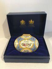 Halcyon Days English Enamel 1987 Oval Box