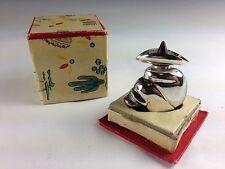 Perfume Bottle Amethyst Top  Brooch/Pin Sterling Silver Mexico Original Box