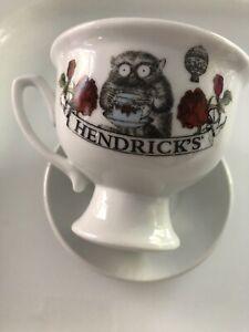 Hendricks Gin Ceramic Tea Cup & Saucer Oscar Wilde 'Dreamer'