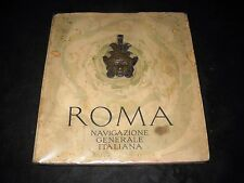 Plaquette di presentazione Transatlantico Roma con applicazione in bronzo - 1926