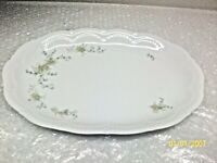 Schirnding Bavaria Porcelain Blue Yellow Floral Serving Platter made in Germany