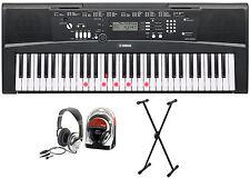 Yamaha ez-220 Keyboard bundle con soporte y auriculares