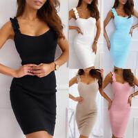 ❤️ Sexy Womens Sleeveless Bodycon Dress Casual Clubwear Evening Party Mini Dress