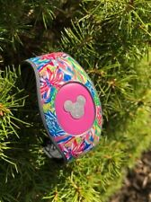 Disney Magic Band 2 Decal Stickers Floral Themed & Silver Glitter Mickey Head