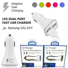 ADAPTIVE FAST CHARGING LED CAR CHARGER DUAL PORT FOR SAMSUNG S10 S9 S8 S7 A8 A5