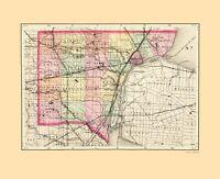 Wayne County Michigan - Walling 1873 - 23.00 x 28.30