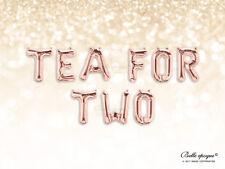 "Tea for Two Rose Gold PALLONCINI, LETTERE Mylar Foil 16"" nozze, feste, compleanno"