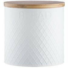 Typhoon Living Embossed Stainless Steel Round Bread Bin Kitchen Loaf Container