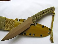 Spartan Blades Horkos Fixed Blade Fighting Utility Knife Tan Kydex Sheath New
