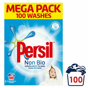 Persil Mega Pack Non-Bio Detergent Powder, 100 Washes Fragrance New With Box