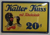 KALTER BESO CON CHOCOLATE - 3d Letrero de metal 20 x 30cm (BS 353)