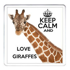 GIRAFFE coaster, Keep Calm And Love Giraffes. Matching Giraffe Mug Available.