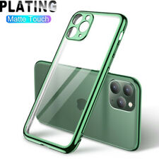 Para iPhone 11 Pro Max XR XS X 8 7 Plus 6S SE Plating Bumper Clear Funda Blanda