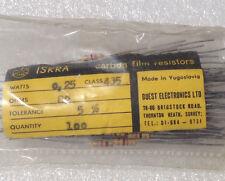 Lot of 100 Iskra 82 ohm Carbon Film Resistors 5% resistor 1/4 watt