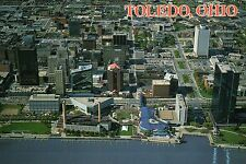 Aerial View Downtown Toledo Ohio, US Great Lakes Port, One SeaGate etc. Postcard