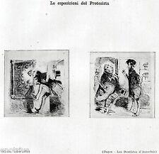 DENTISTA: ESPOSIZIONI DI DENTIERE. Caricatura di Cham. Dentiste. Zahnarzt. 1929