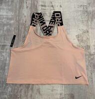 Nike Women's Slim Fit Crop Top Size L Pink  BQ5689 646 NEW