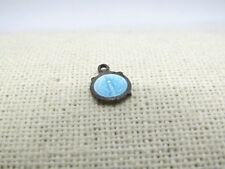 """Vintage Sterling Catholic Medal - Mary Conceived without Sin , Enameled, .25"""""""