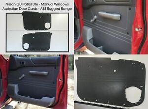 Nissan GU PATROL Waterproof, Rugged ABS Ute Manual Window Door Trim Panels Grey