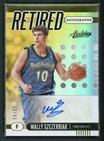 2019-20 WALLY SZCZERBIAK 23/49 AUTO PANINI ABSOLUTE MEMORABILIA RETIRED