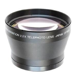 72mm 2.2X  photo Converter Lens for Nikon Canon DSLR Camera 18-200mm