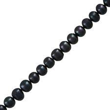 "Naturelle d'Eau Douce Perles Dark Peacock Patate perles 6-8 mm 14"" (H29/5)"