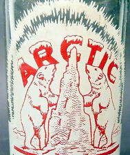 vintage ACL SODA pop BOTTLE - polar bears on ARCTIC of CONROE, TX.  - 10 oz ACL