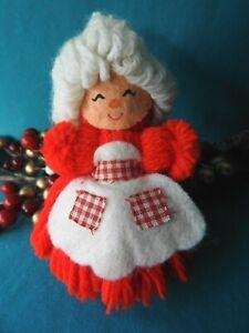 Hallmark Ornament Rare 1978 Mrs. Claus Yarn