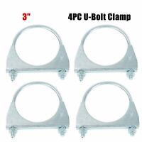 "4PCS 3"" U-Bolt Uclamp Muffler Saddle Style Exhaust Clamp"