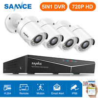 SANNCE 5in1 8CH Security Camera System 1080P HDMI DVR 4x 1500TVL CCTV IR Night