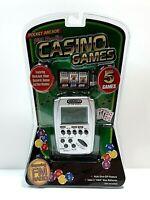 Casino Games pocket arcade 5 Games, Black Jack, Poker + fm radio BNIB