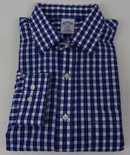 Brooks Brothers 1818 Regent Blue Plaid Non Iron Check Shirt 16 1/2 34/35 Mens