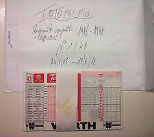 SCHEDINE TOTOCALCIO-CAMPIONATO COMPLETO DA 1 A 43  ANNO 1987/88