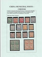 Stamps China 1800's Municipal post collection of 103 plus cutouts, wrappers etc
